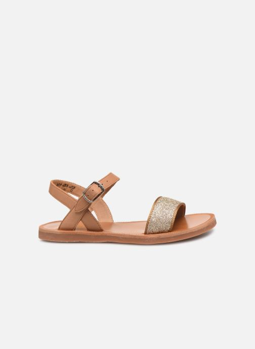Sandals Pom d Api Plagette Buckle Tao Brown back view