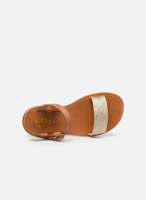 Sandalen Pom d Api Plagette Buckle Tao gold/bronze ansicht von links