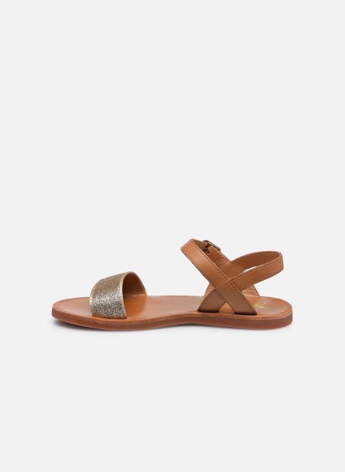 Sandali e scarpe aperte Pom d Api Plagette Buckle Tao Marrone immagine frontale