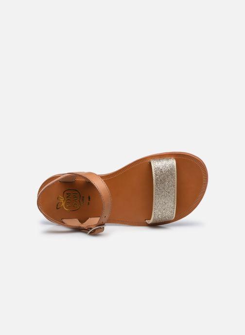 Sandali e scarpe aperte Pom d Api Plagette Buckle Tao Marrone immagine sinistra