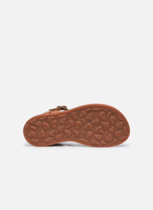 Sandali e scarpe aperte Pom d Api Plagette Buckle Tao Marrone immagine dall'alto