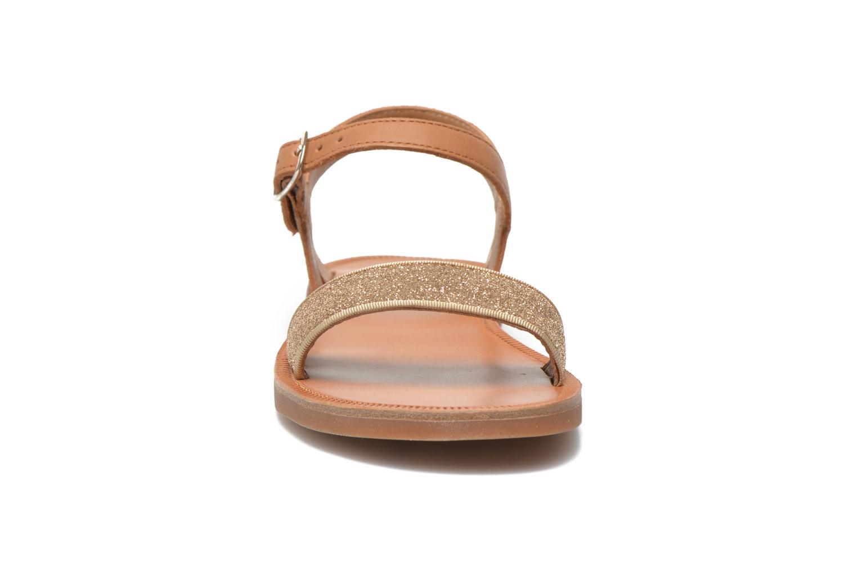 Sandals Pom d Api Plagette Buckle Tao Brown model view