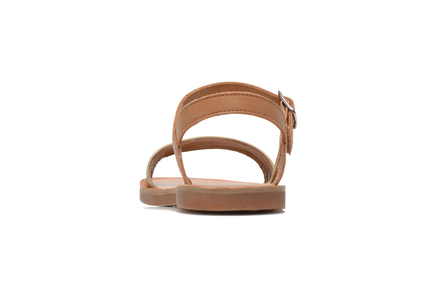 Sandals Pom d Api Plagette Buckle Tao Brown view from the right