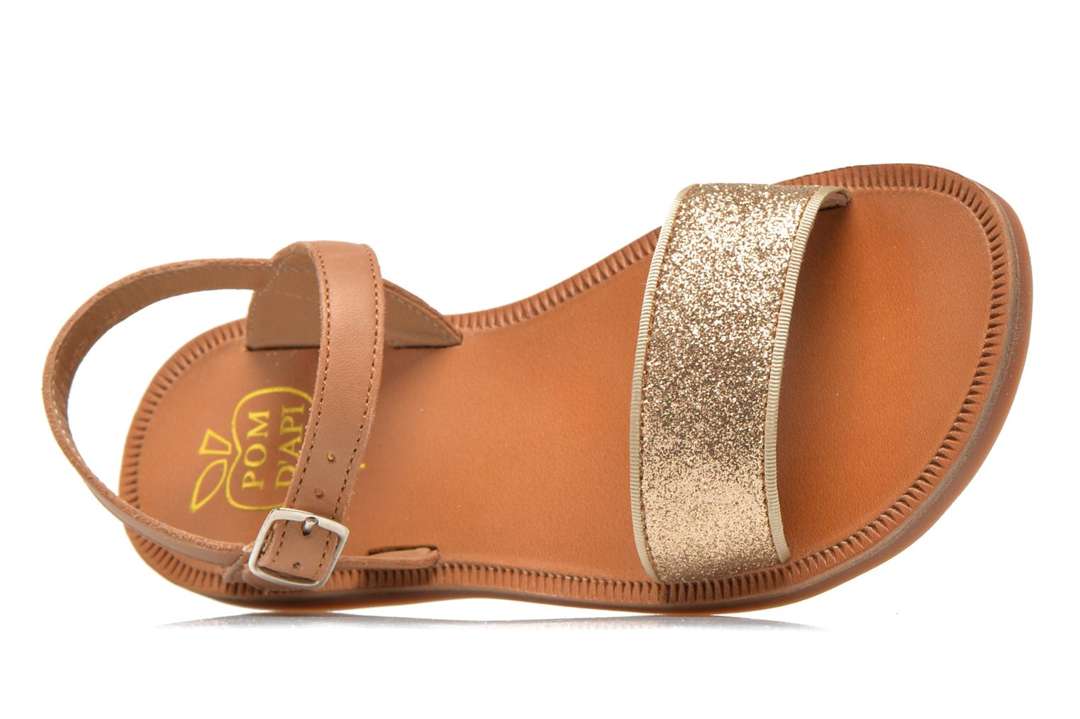 Sandals Pom d Api Plagette Buckle Tao Brown view from the left