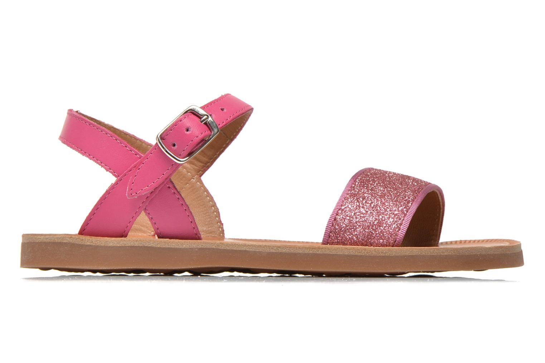 Sandals Pom d Api Plagette Buckle Tao Pink back view