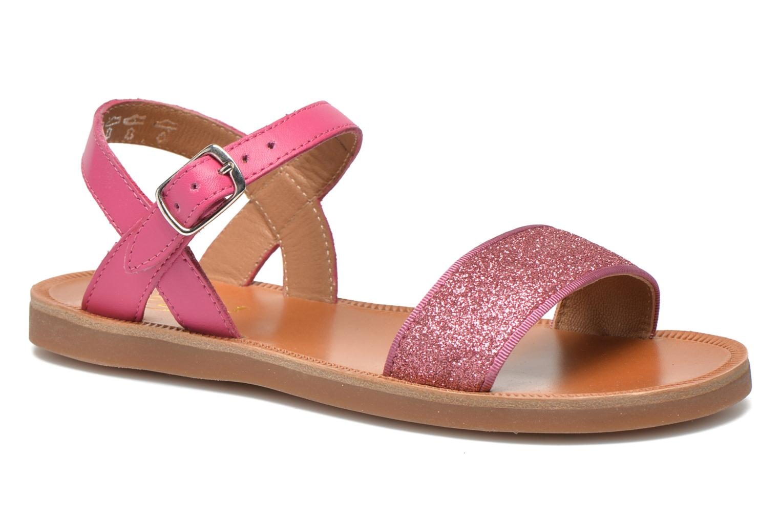Sandals Pom d Api Plagette Buckle Tao Pink detailed view/ Pair view