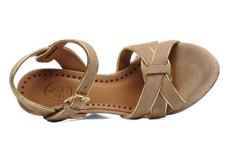 Sandales et nu-pieds Ash Grazia Bis Beige vue gauche