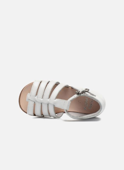 Sandalias Little Mary Hosmose Blanco vista lateral izquierda