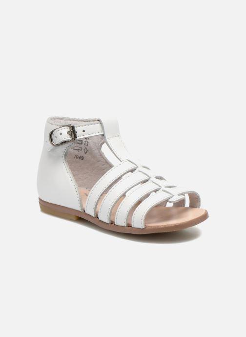 Sandales et nu-pieds Little Mary Hosmose Blanc vue détail/paire