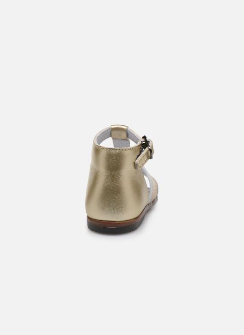 Sandales et nu-pieds Little Mary Hosmose Or et bronze vue droite