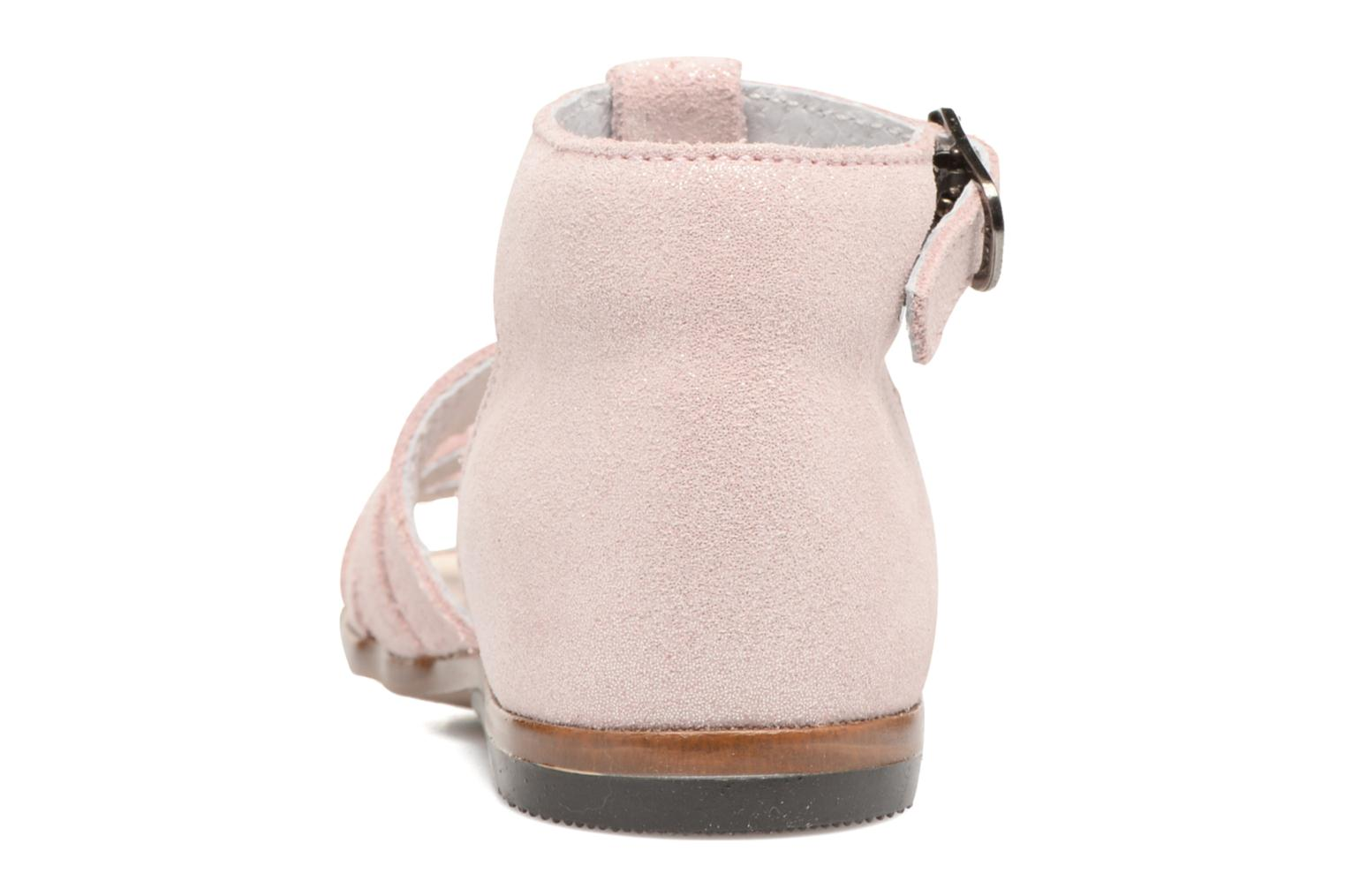 Sandalias Little Mary Hosmose Rosa vista lateral derecha