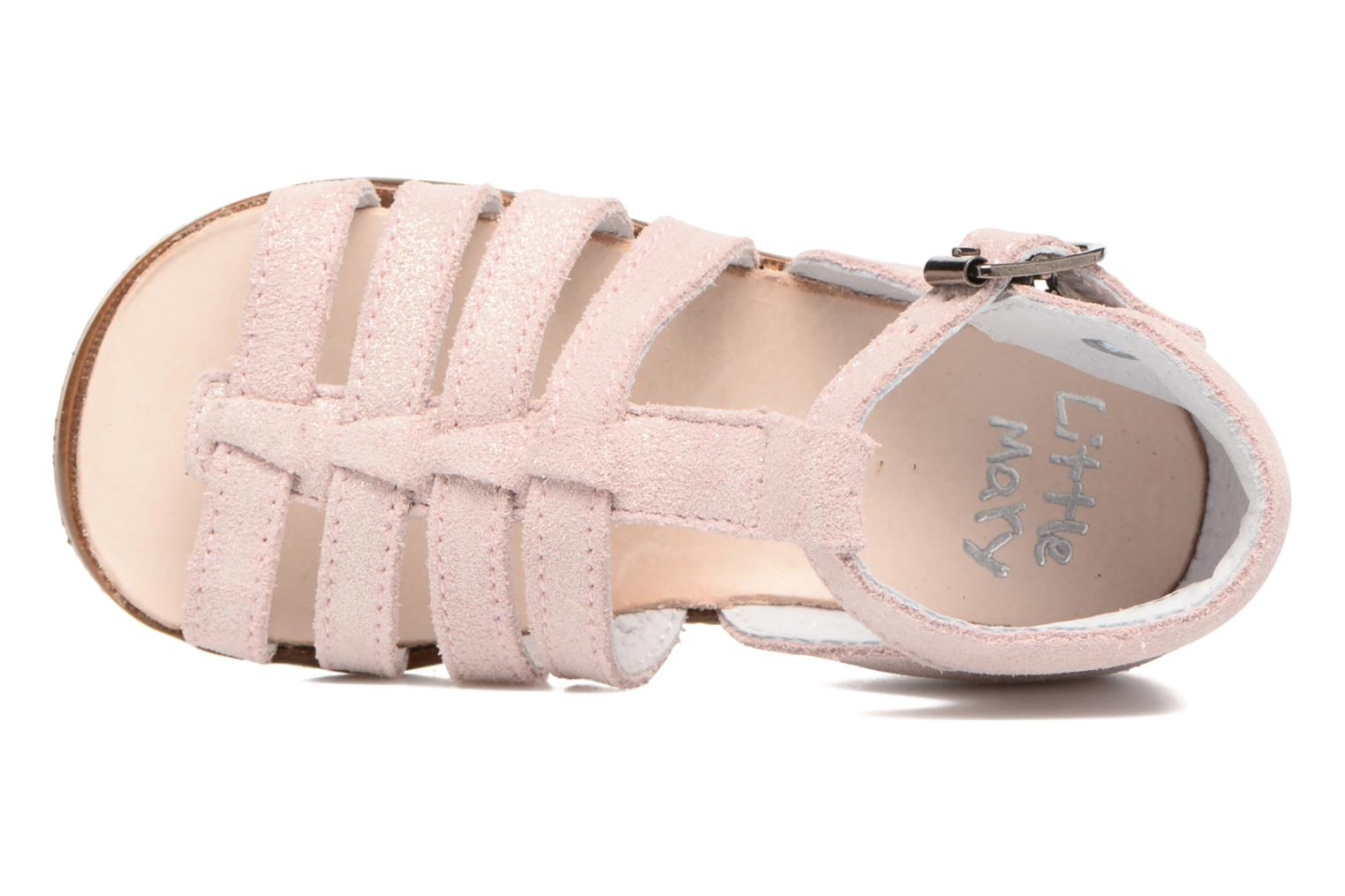 Sandalias Little Mary Hosmose Rosa vista lateral izquierda