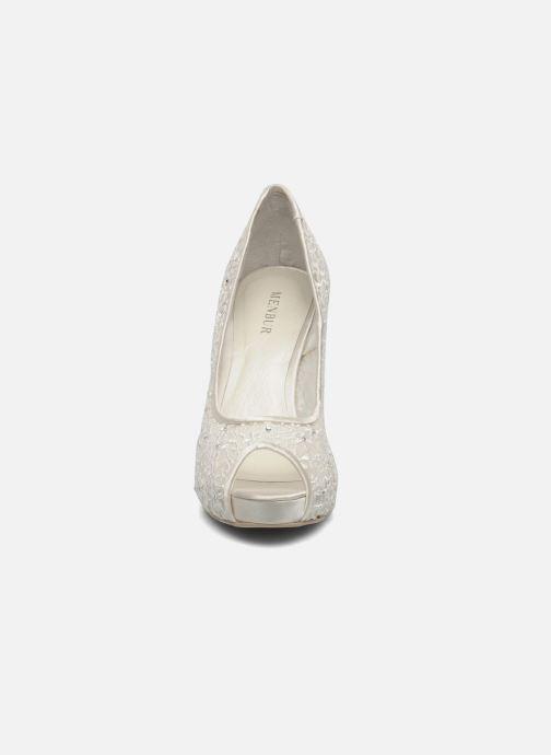 Escarpins Menbur Halti Blanc vue portées chaussures