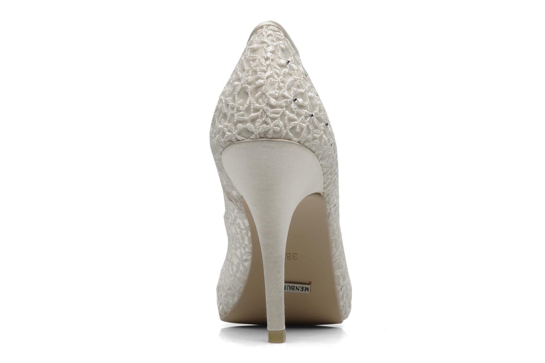 Zapatos de tacón Menbur Halti Blanco vista lateral derecha