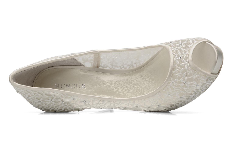 Zapatos de tacón Menbur Halti Blanco vista lateral izquierda