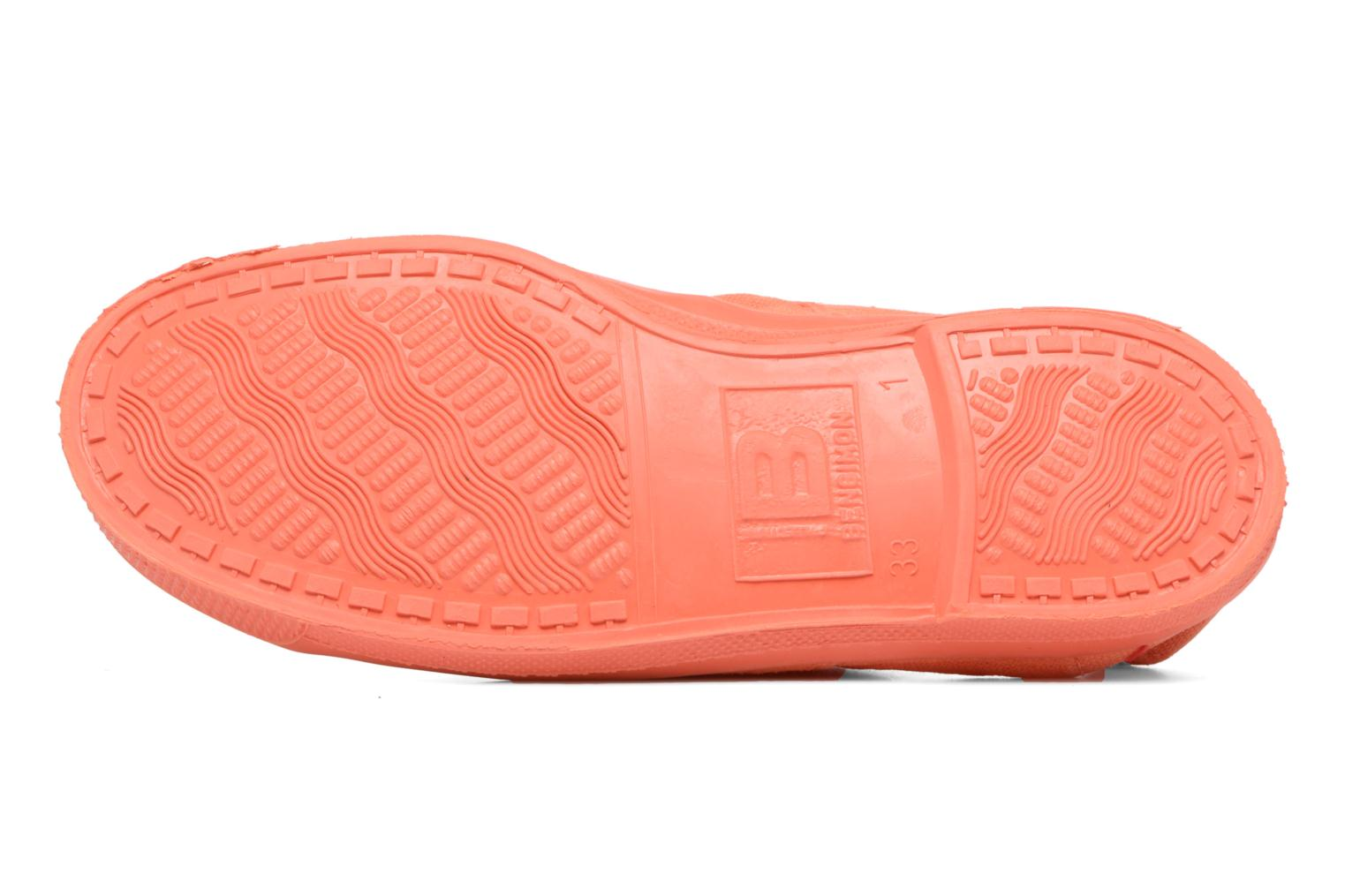 Baskets Bensimon Tennis Colorsole E Orange vue haut