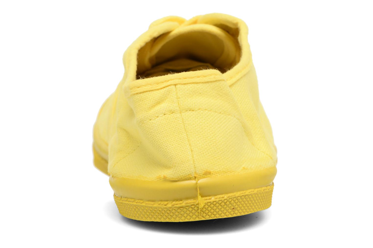Trainers Bensimon Tennis Colorsole E Yellow back view