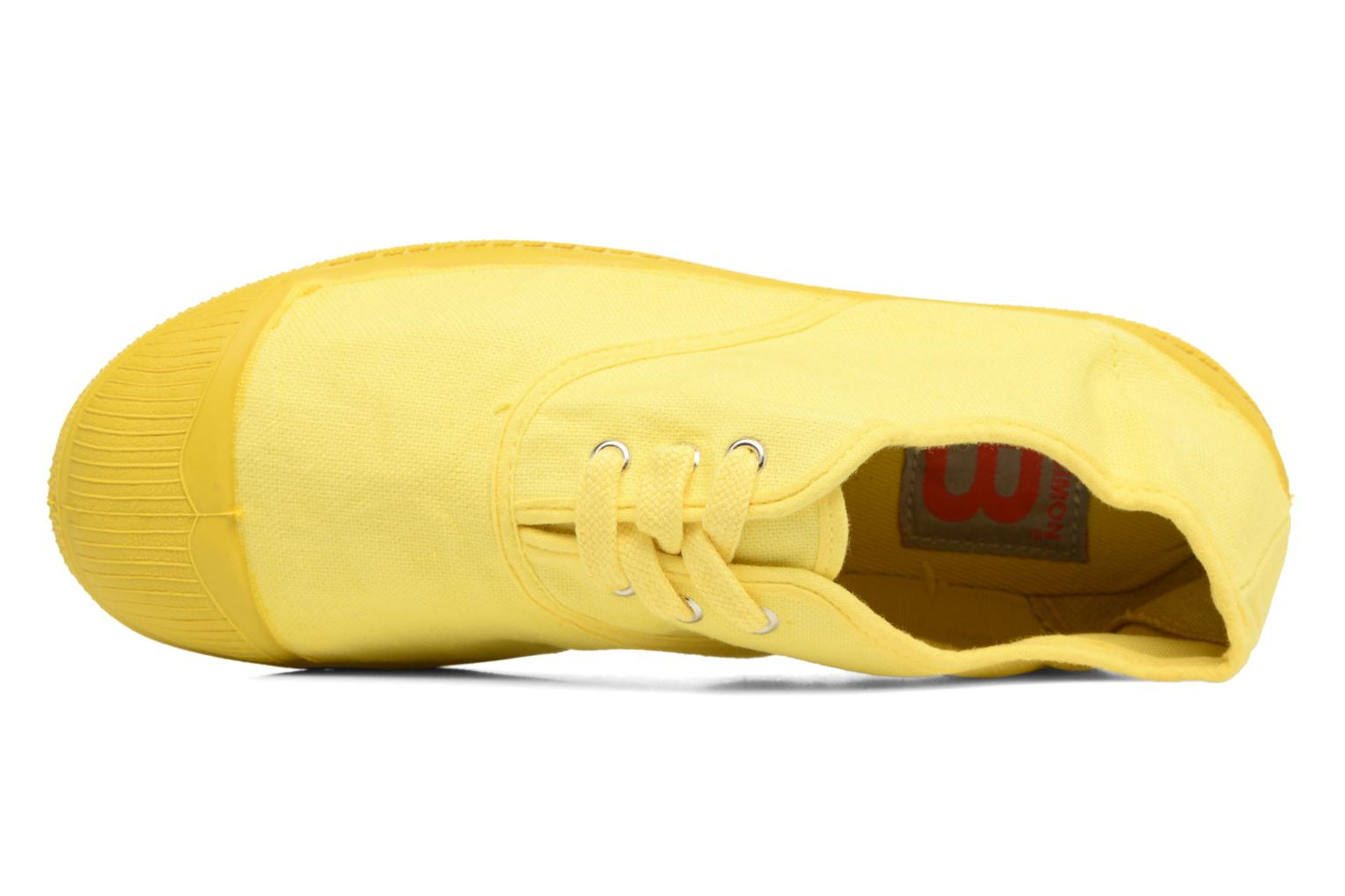 Baskets Bensimon Tennis Colorsole E Jaune vue gauche