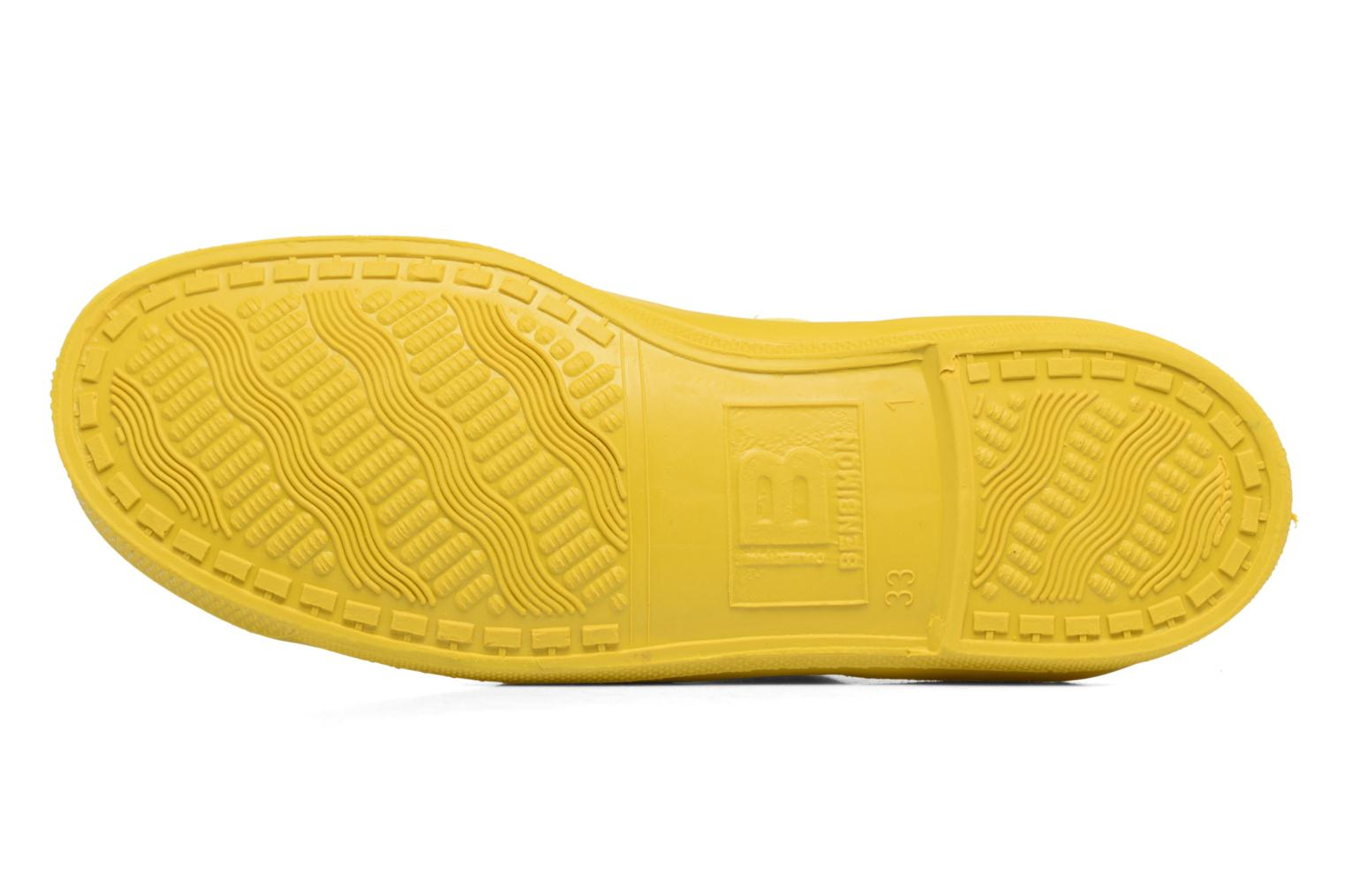 Baskets Bensimon Tennis Colorsole E Jaune vue haut