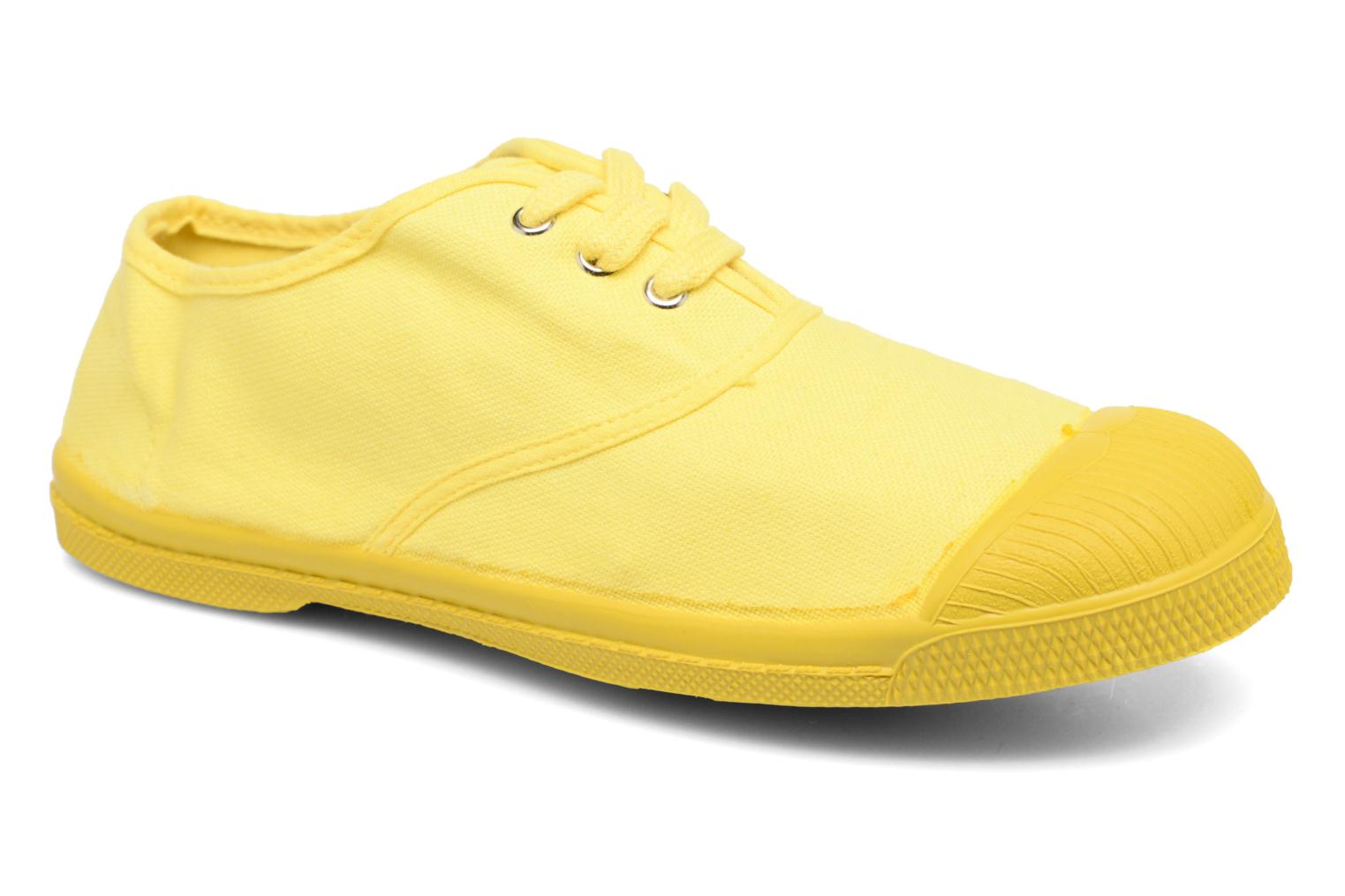 Baskets Bensimon Tennis Colorsole E Jaune vue détail/paire