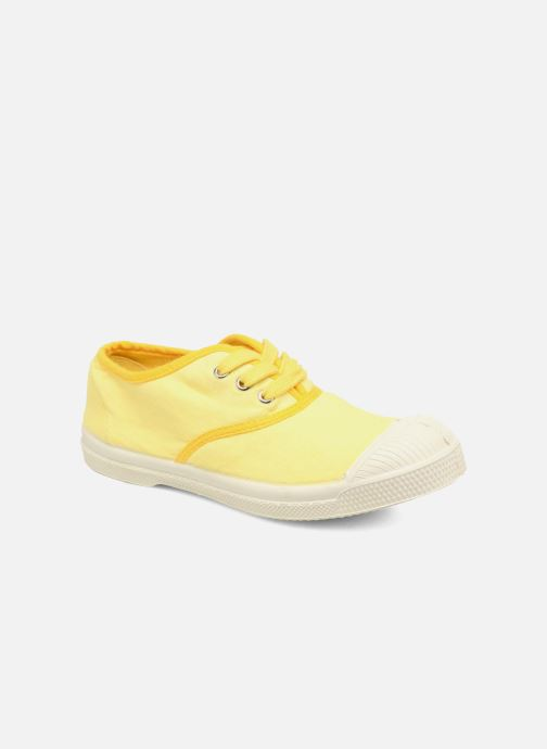 Baskets Bensimon Tennis Colorpiping E Jaune vue détail/paire