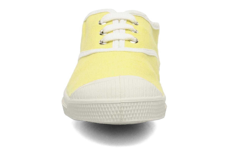 Baskets Bensimon Tennis Colorpiping E Jaune vue portées chaussures