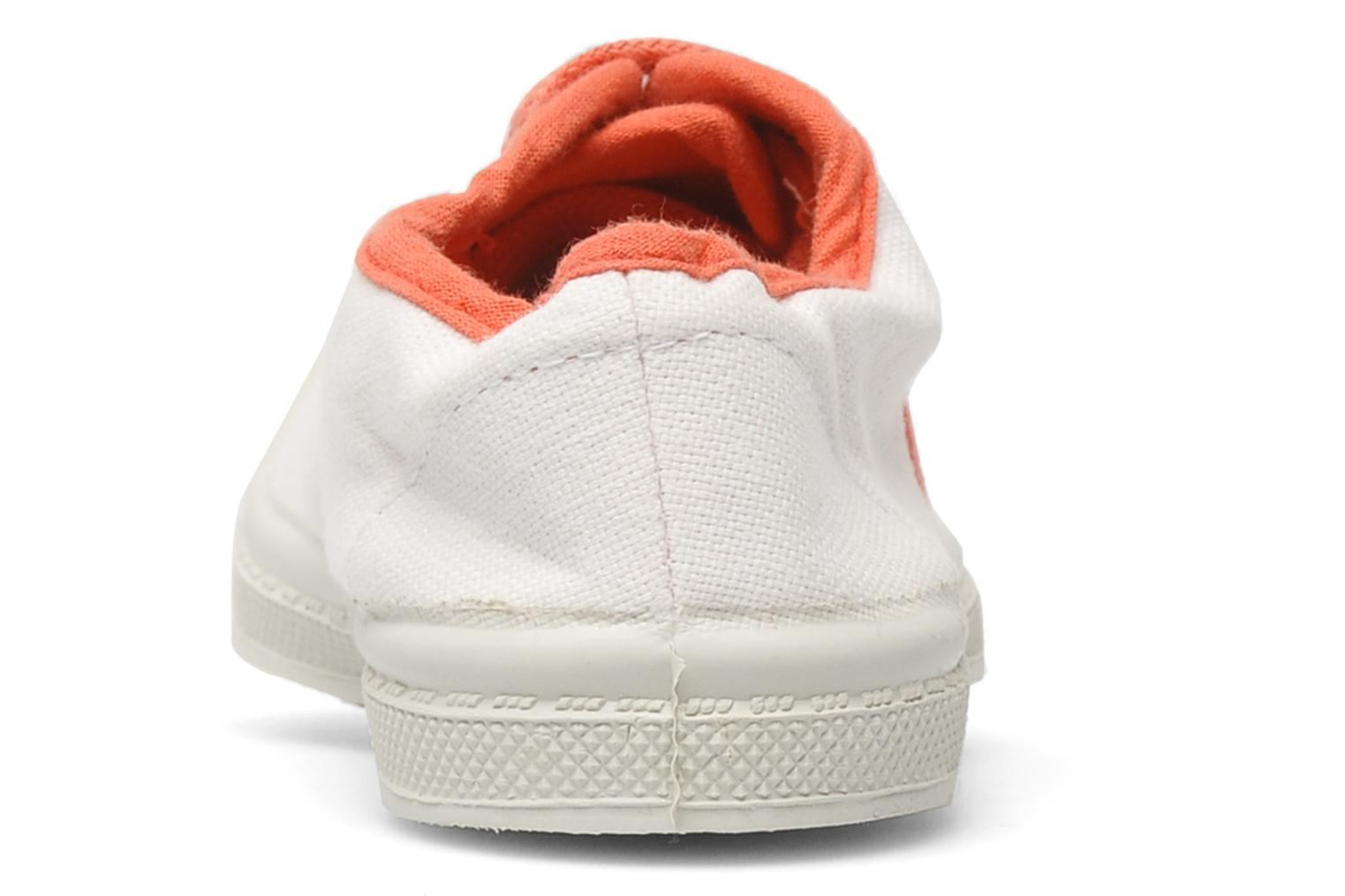 Trainers Bensimon Tennis Colorpiping E White view from the right