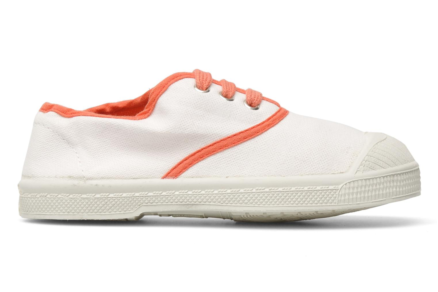 Trainers Bensimon Tennis Colorpiping E White back view