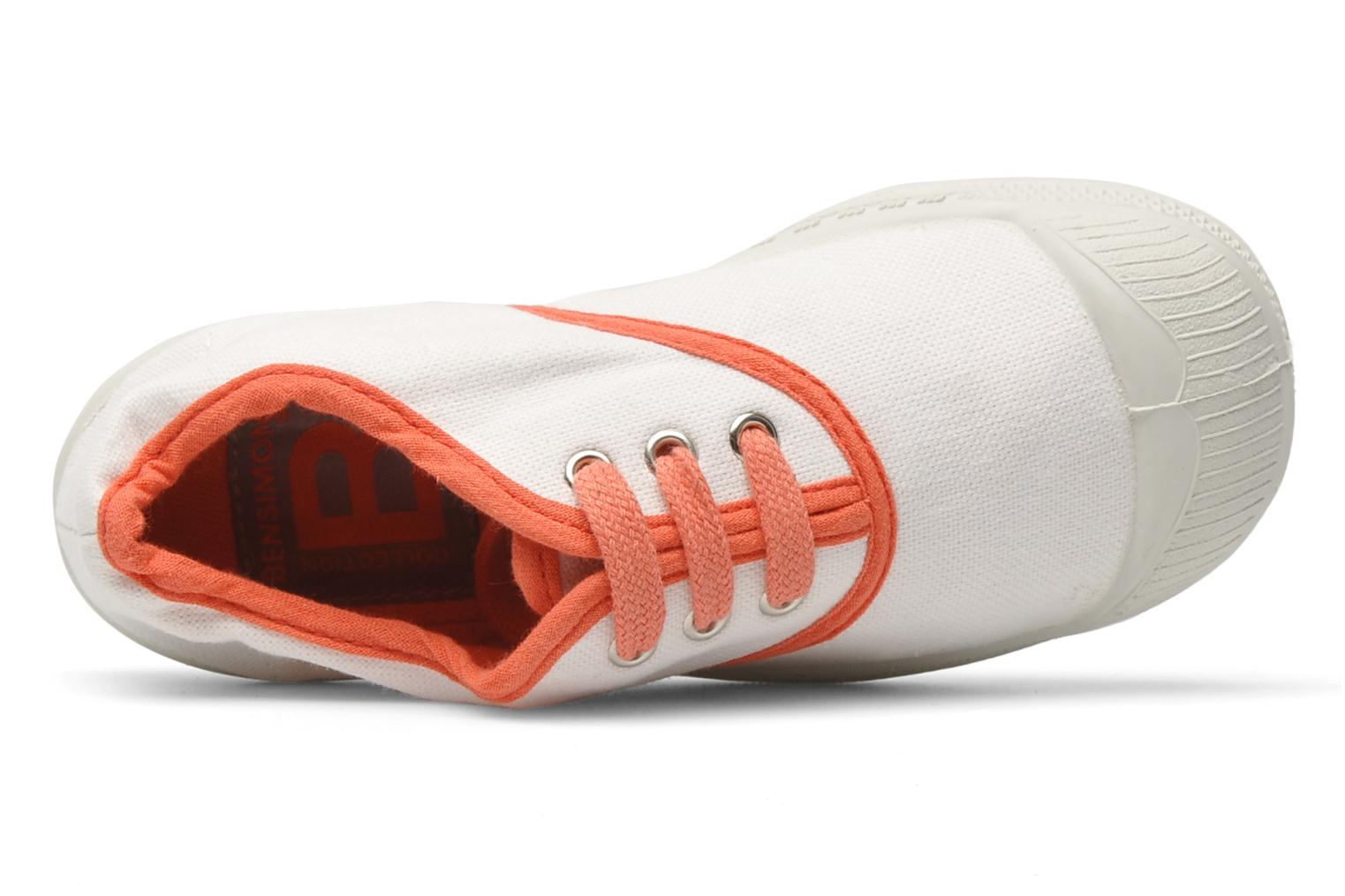 Trainers Bensimon Tennis Colorpiping E White view from the left
