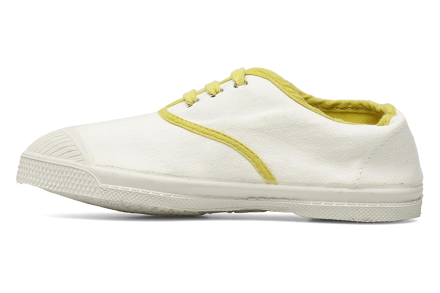 Baskets Bensimon Tennis Colorpiping E Blanc vue face