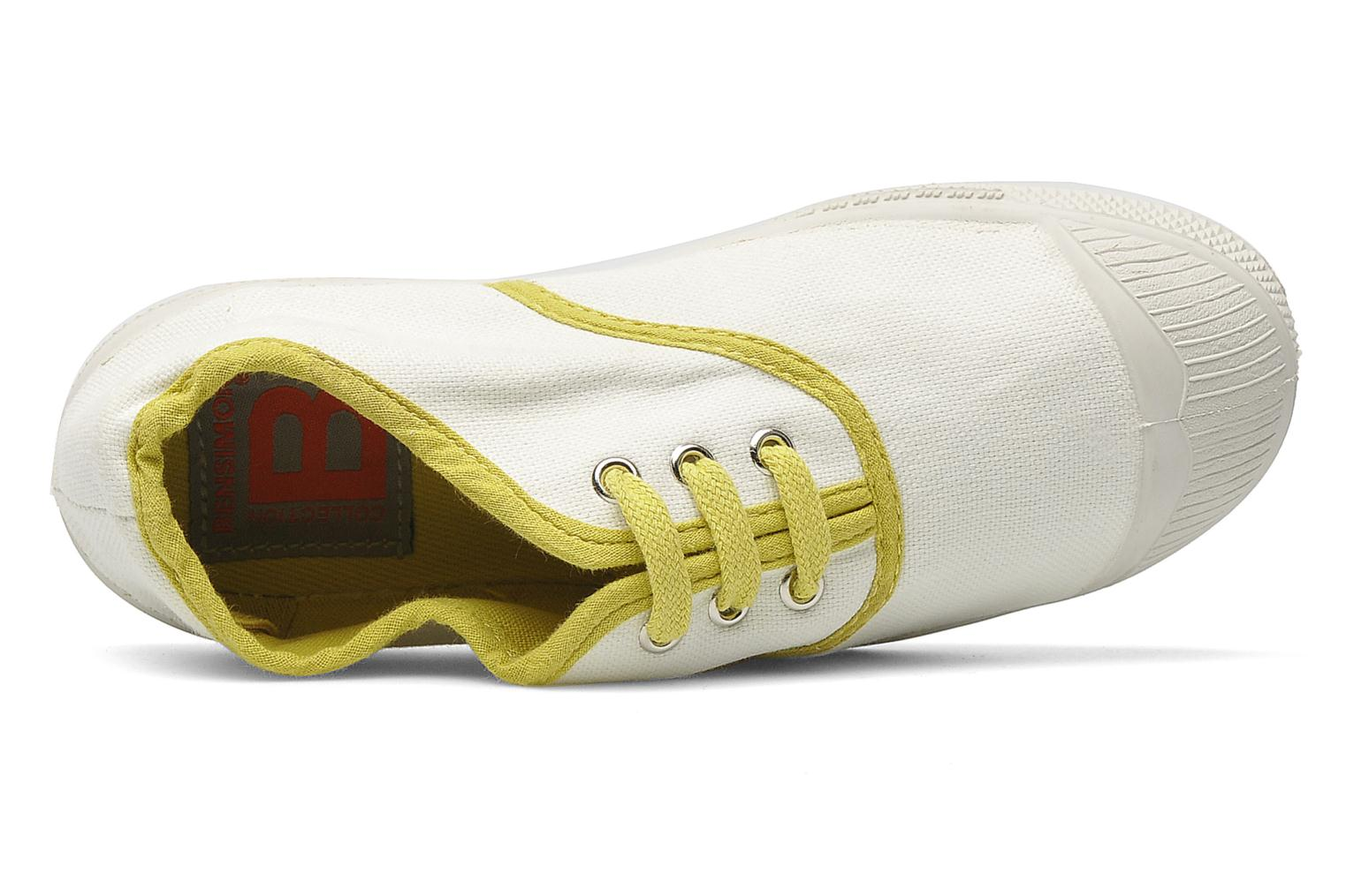 Baskets Bensimon Tennis Colorpiping E Blanc vue gauche