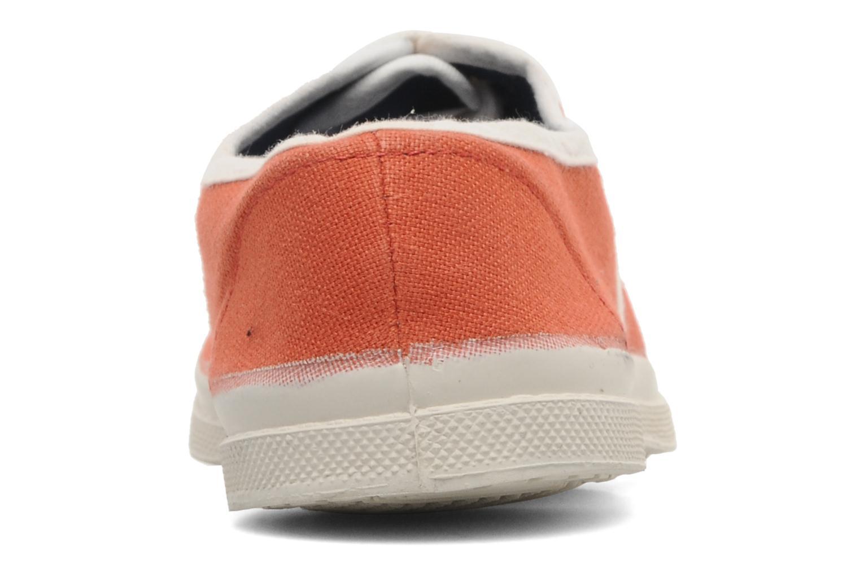 Deportivas Bensimon Tennis Colorpiping E Naranja vista lateral derecha