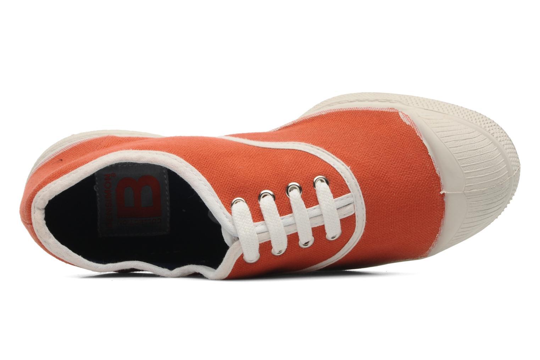 Deportivas Bensimon Tennis Colorpiping E Naranja vista lateral izquierda