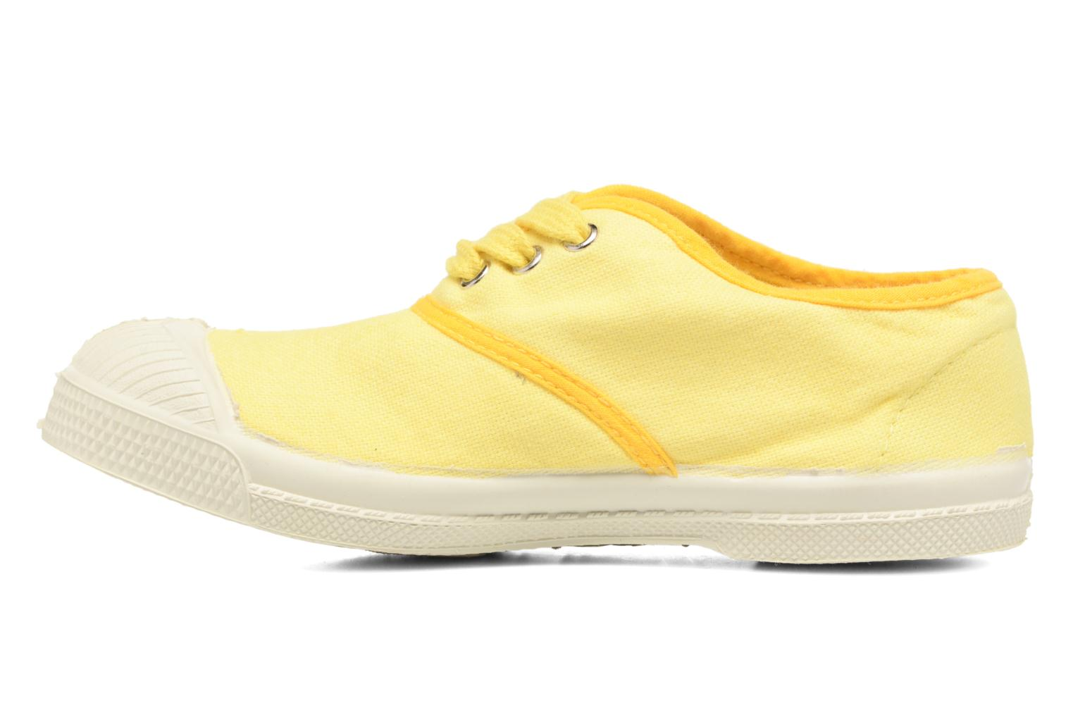 Trainers Bensimon Tennis Colorpiping E Yellow front view