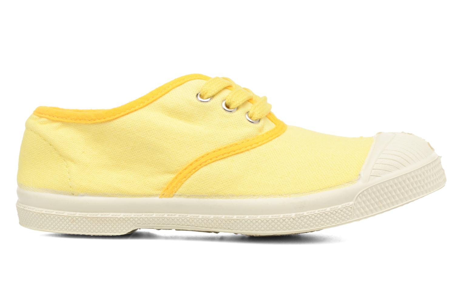 Trainers Bensimon Tennis Colorpiping E Yellow back view