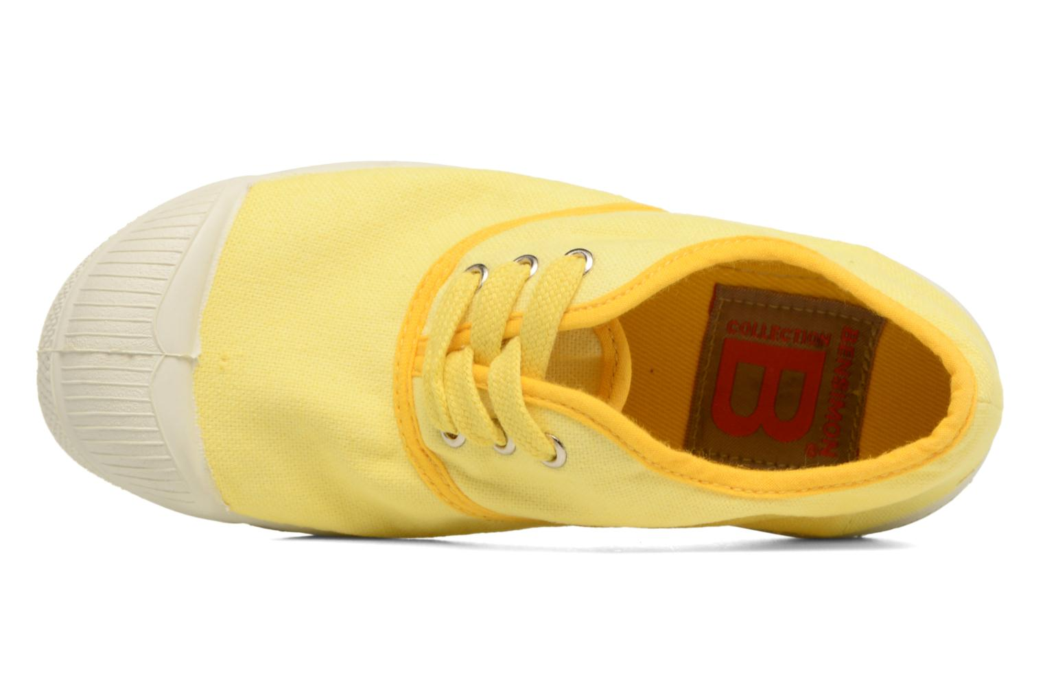 Trainers Bensimon Tennis Colorpiping E Yellow view from the left