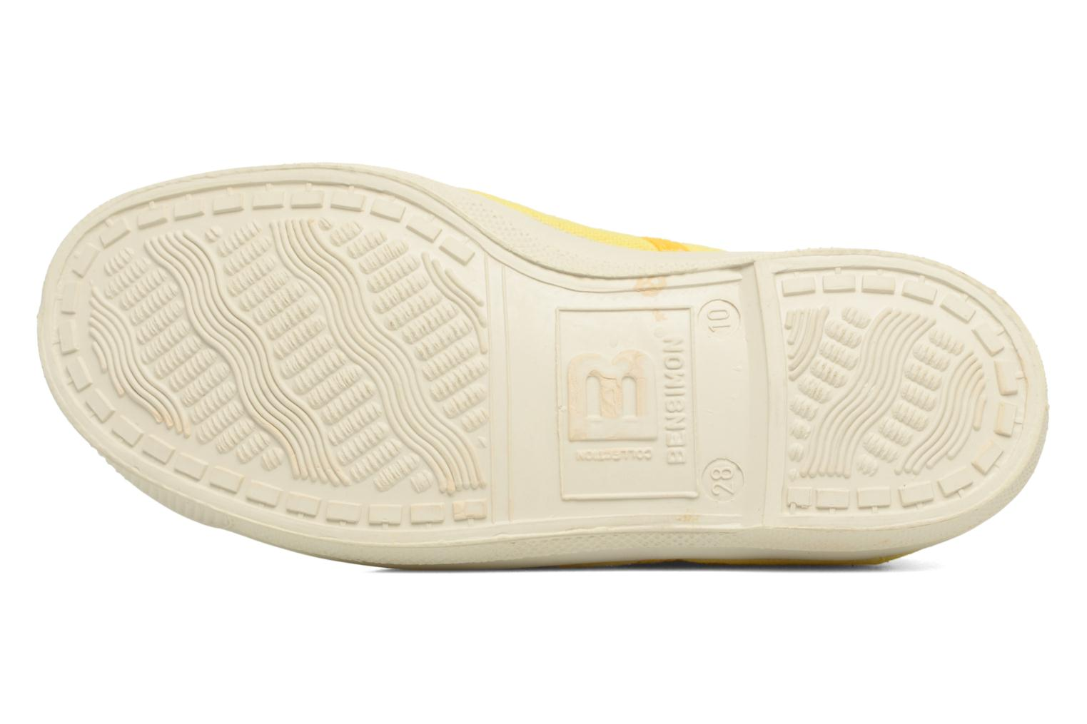 Trainers Bensimon Tennis Colorpiping E Yellow view from above