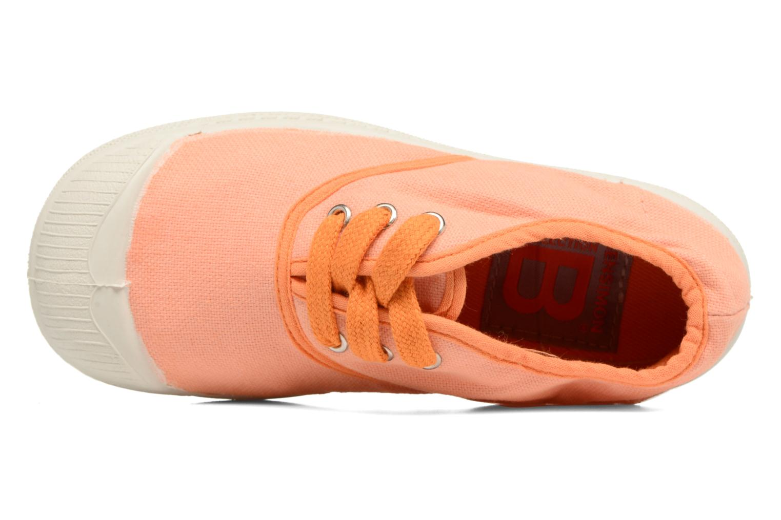 Baskets Bensimon Tennis Colorpiping E Orange vue gauche