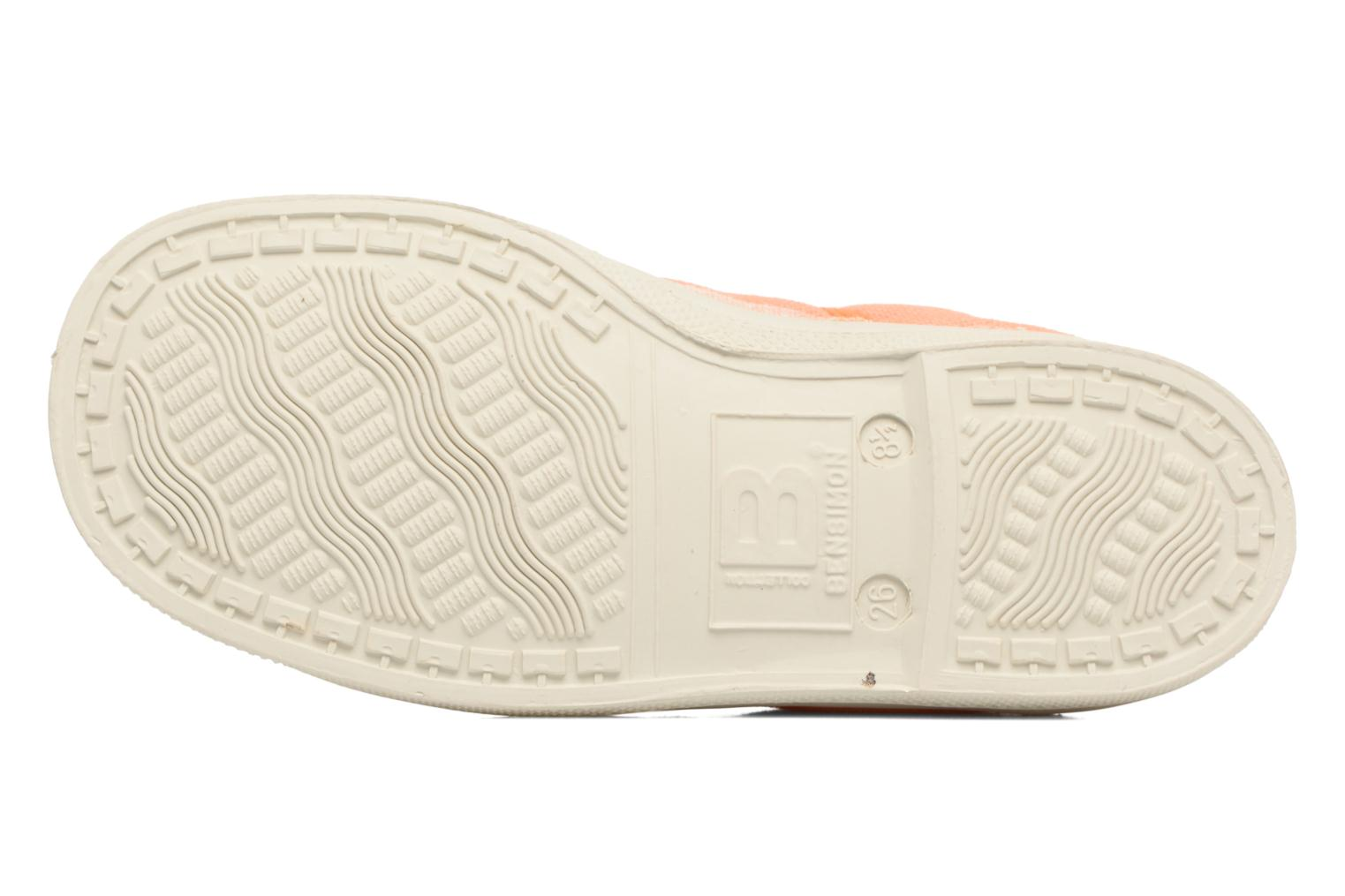 Baskets Bensimon Tennis Colorpiping E Orange vue haut