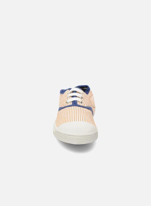 Baskets Bensimon Tennis Rayures Souples E Orange vue portées chaussures