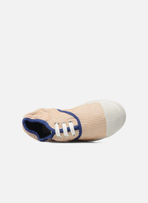 Sneaker Bensimon Tennis Rayures Souples E orange ansicht von links