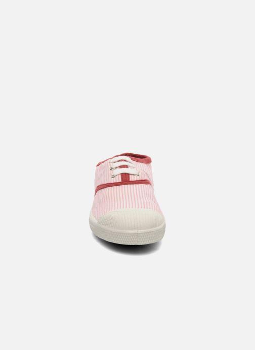 Sneaker Bensimon Tennis Rayures Souples E rosa schuhe getragen