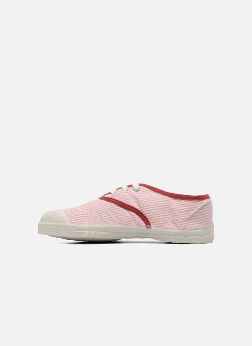 Sneaker Bensimon Tennis Rayures Souples E rosa ansicht von vorne
