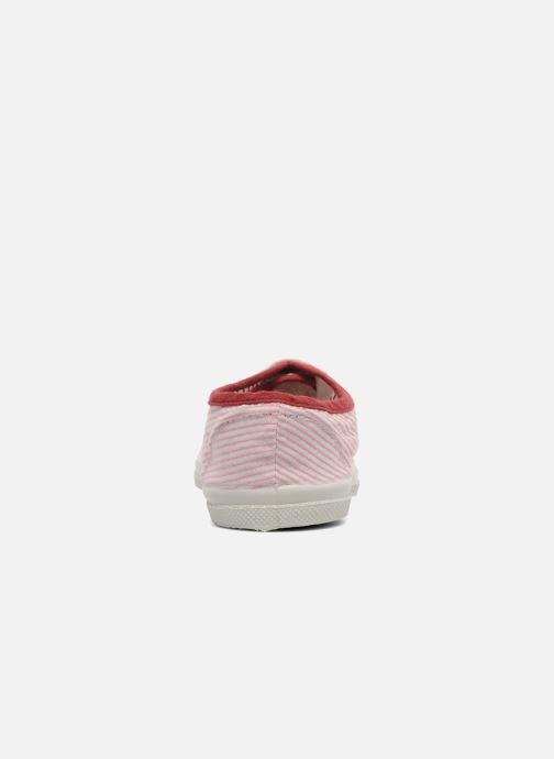 Trainers Bensimon Tennis Rayures Souples E Pink view from the right