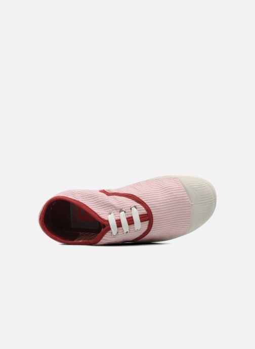 Sneaker Bensimon Tennis Rayures Souples E rosa ansicht von links
