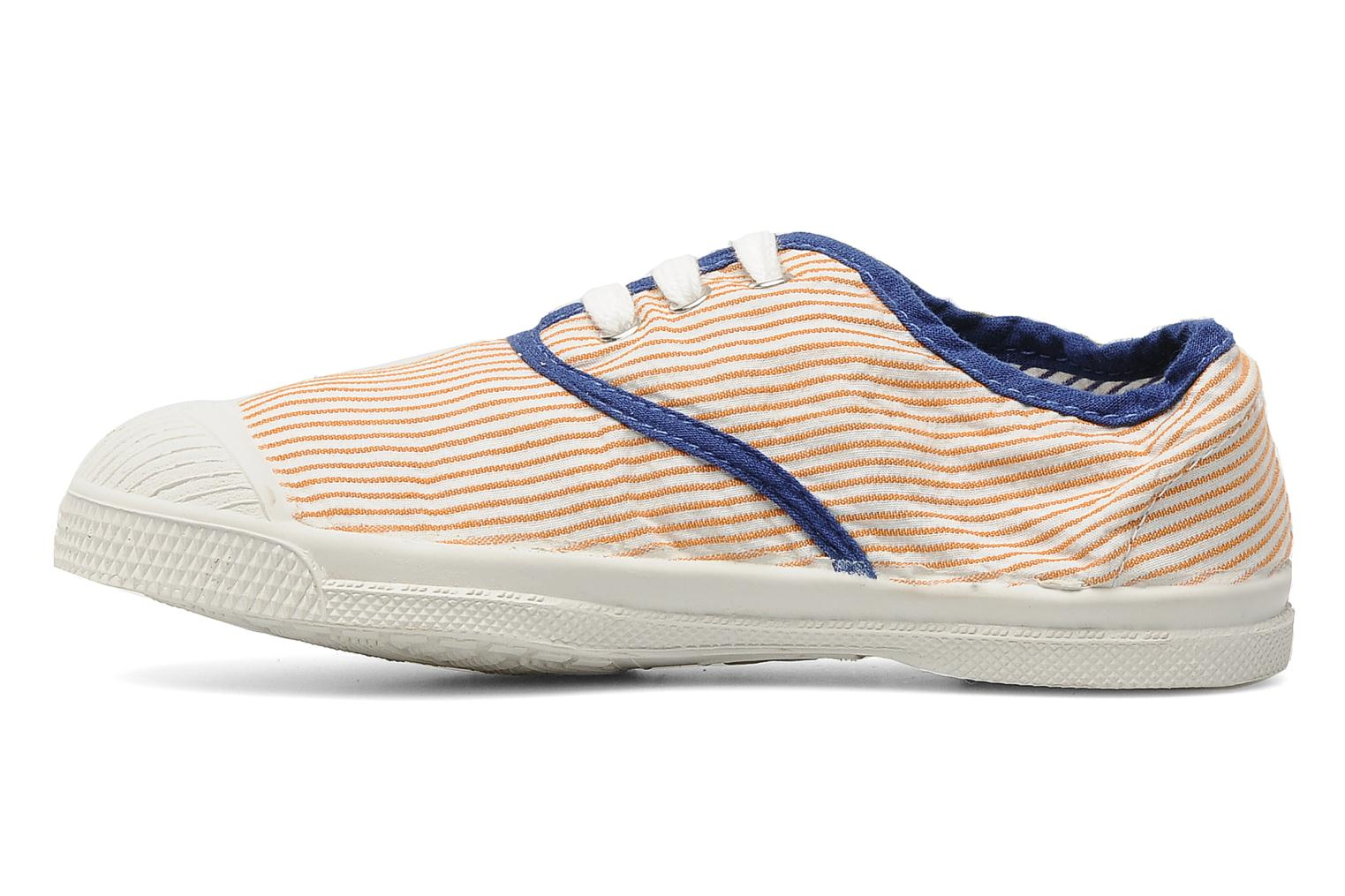 Baskets Bensimon Tennis Rayures Souples E Orange vue face