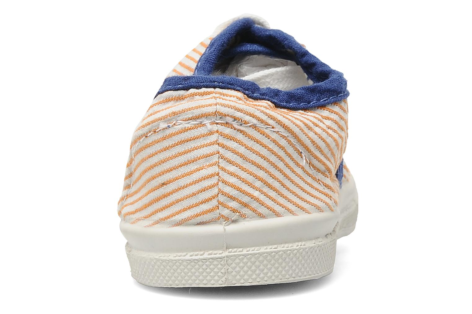 Baskets Bensimon Tennis Rayures Souples E Orange vue droite