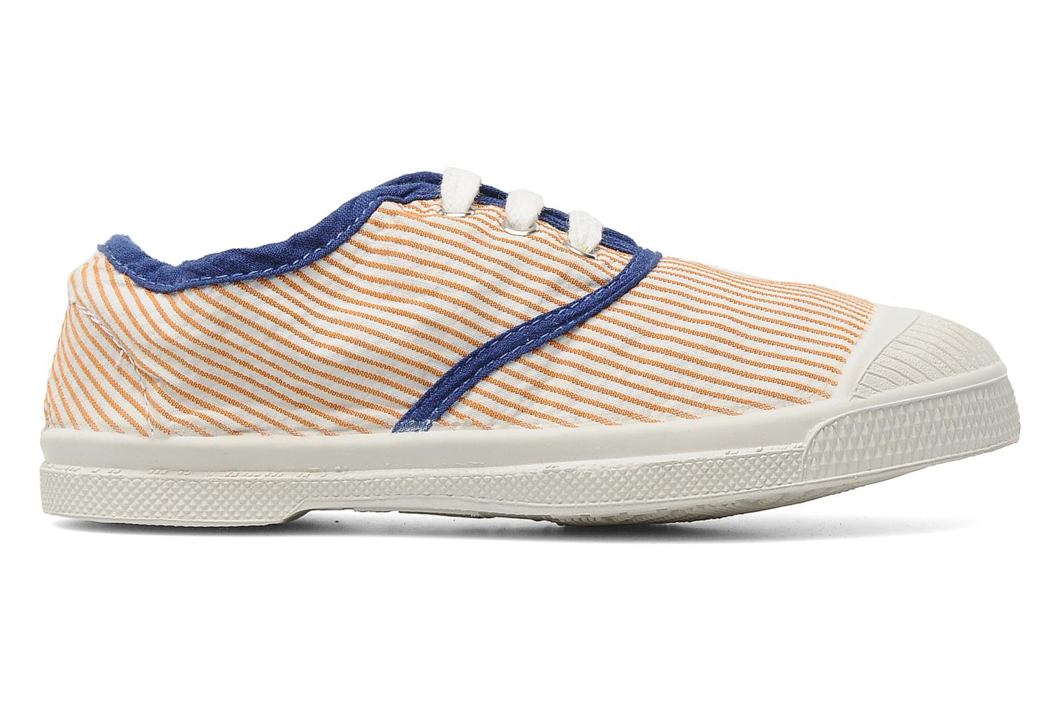 Baskets Bensimon Tennis Rayures Souples E Orange vue derrière