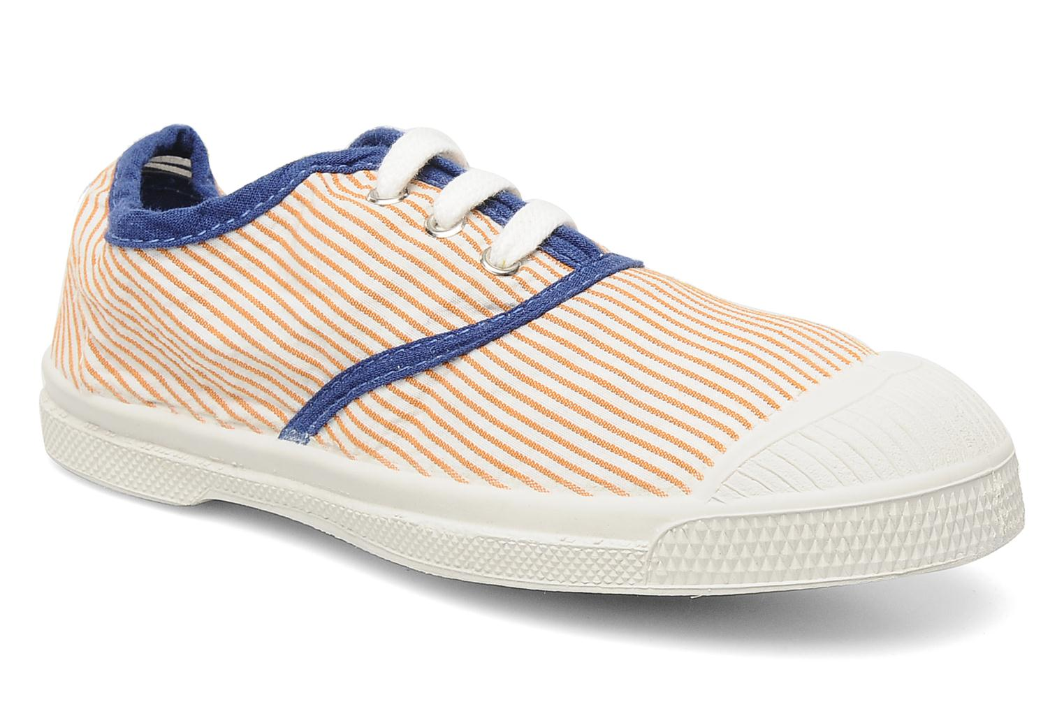 Baskets Bensimon Tennis Rayures Souples E Orange vue détail/paire