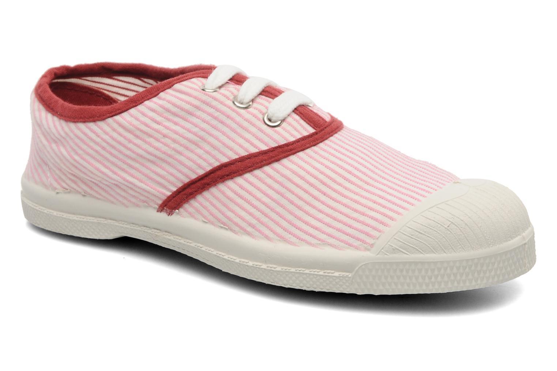Baskets Bensimon Tennis Rayures Souples E Rose vue détail/paire